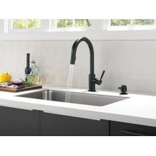 Matte Black Single Handle Pull-Down Kitchen Faucet with Soap Dispenser