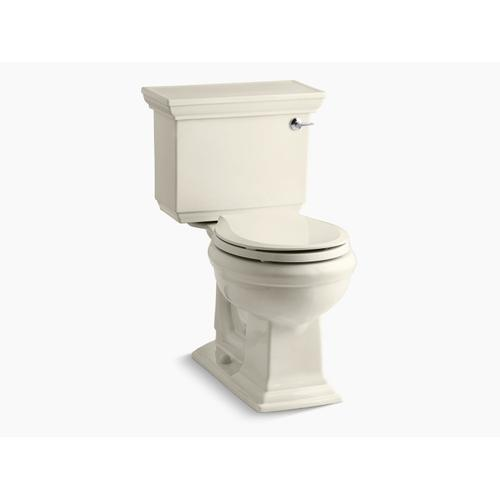 Almond Two-piece Round-front 1.28 Gpf Chair Height Toilet With Right-hand Trip Lever
