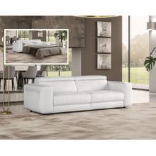 See Details - Coronelli Collezioni Icon - Modern Italian White Leather Queen Size Sofa Bed