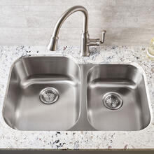 See Details - Portsmouth Undermount Double Bowl Kitchen Sink  American Standard - Stainless Steel