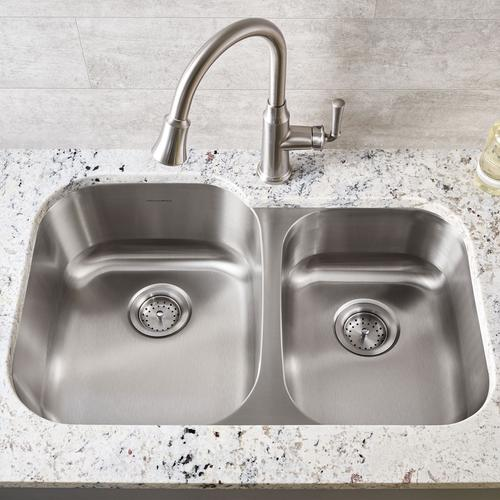 Portsmouth Undermount Double Bowl Kitchen Sink  American Standard - Stainless Steel