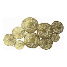 Large Circles Wall Décor Gold