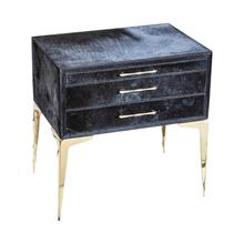 Product Image - Stiletto Bedside Table-Black Hair-on-Hide