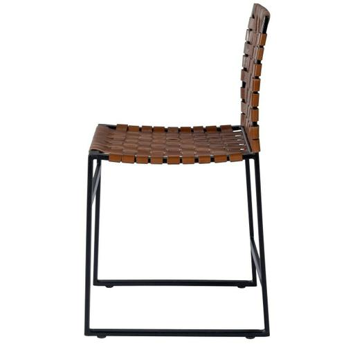 Beautifully constructed with a black iron base, high quality leather and metal nail head accents contribute to the rustic charm of this chair.