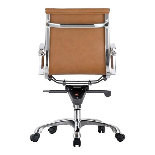 Moe's Home Collection - Omega Swivel Office Chair Low Back Tan