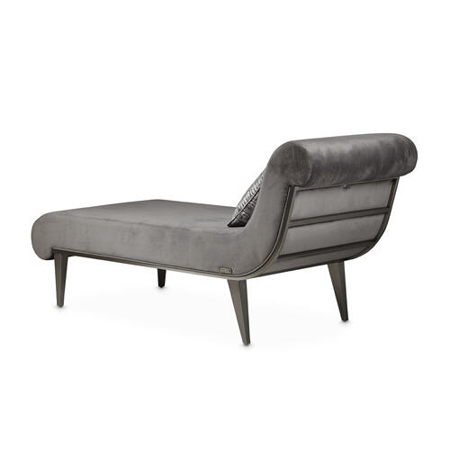 Amini - Roxburypark Chaise Gray Pearl Stain Lesssteel