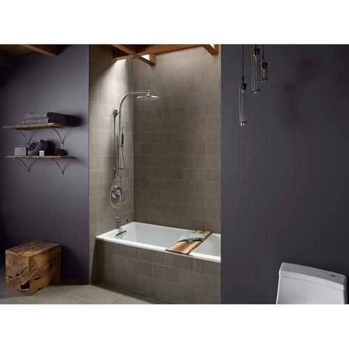 Vibrant Polished Nickel Arch Bath/shower Column