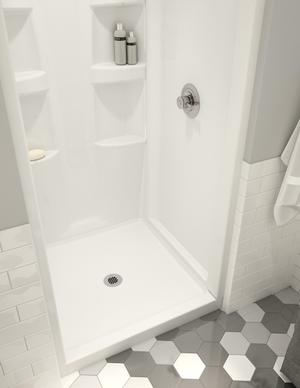 White ProCrylic 36 in. x 36 in. Shower Base Center Drain Product Image