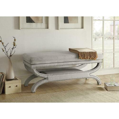 See Details - Light Grey Accent Bench