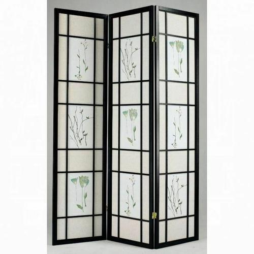 ACME Iola 3-Panel Room Divider - 02254 - Black