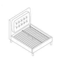 See Details - King Platform Bed - Grey