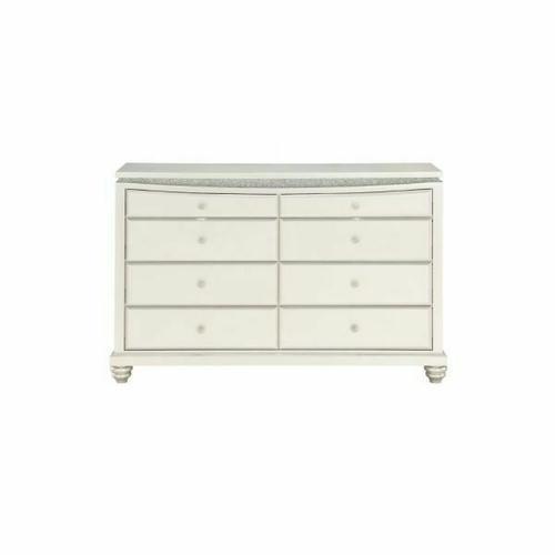 ACME Maverick Dresser w/8 Drw - 31812 - Glam - Wood (Poplar), MDF - Platinum