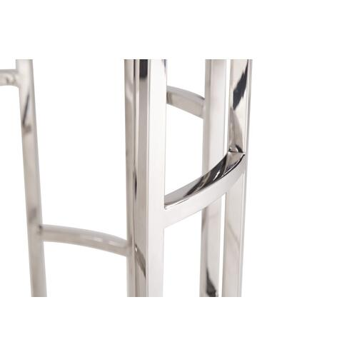 VIG Furniture - Modrest Silvan Modern Marble & Stainless Steel End Table