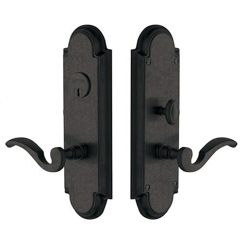 Distressed Oil-Rubbed Bronze Stanford Escutcheon Entrance Set