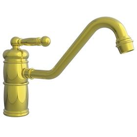 Uncoated Polished Brass - Living Single Handle Kitchen Faucet