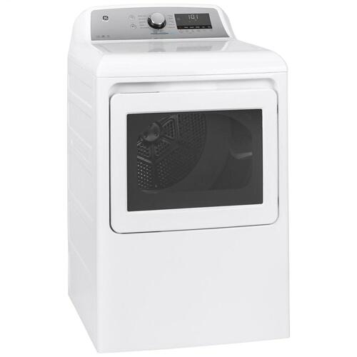 GE® 7.4 cu. ft. Capacity Smart aluminized alloy drum Electric Dryer with Sanitize Cycle and Sensor Dry