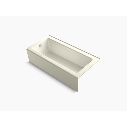"Biscuit 66"" X 32"" Alcove Bath With Integral Apron and Left-hand Drain"