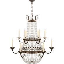 View Product - E F Chapman Paris Flea Market 12 Light 40 inch Sheffield Silver Chandelier Ceiling Light