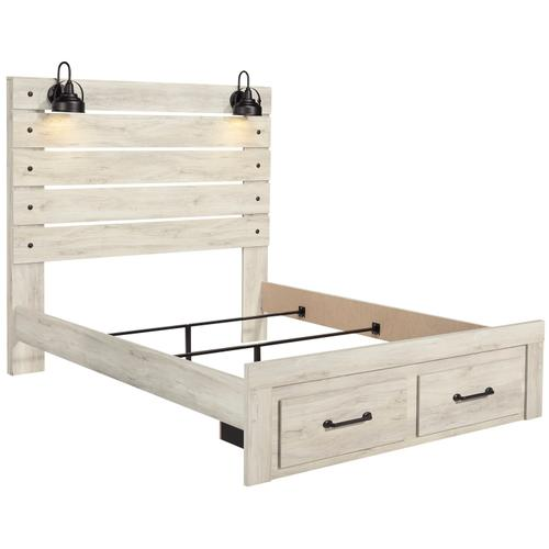 Cambeck - Whitewash 3 Piece Bed (Queen)
