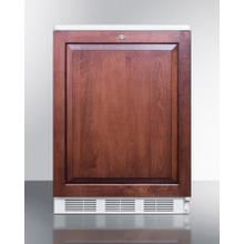 Built-in Undercounter All-refrigerator for General Purpose Use, Auto Defrost W/lock, Integrated Door Frame for Overlay Panels, and White Cabinet
