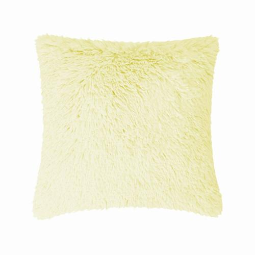 Fun Fur Long Hair Cushion - Rust