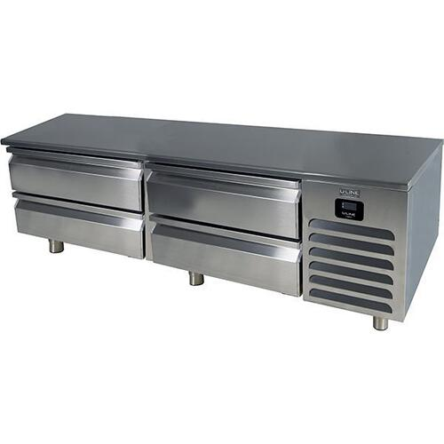 "U-Line - 72"" Freezer Base With Stainless Solid Finish (115v/60 Hz Volts /60 Hz Hz)"