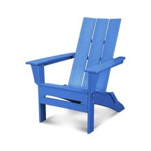 Pacific Blue Modern Folding Adirondack