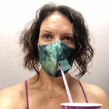 Product Image - Happy Hour Reusable Face Mask in Tie Dye Indigo