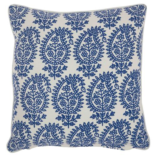 "Life Styles Rc790 Blue 18"" X 18"" Throw Pillow"