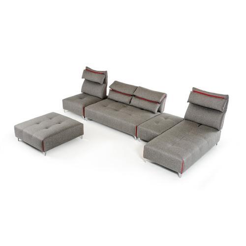 VIG Furniture - David Ferrari Zip - Modern Grey Fabric Modular Sectional Sofa
