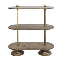 "Product Image - 31-3/4""H Metal & Wood 3-Tier Shelf"