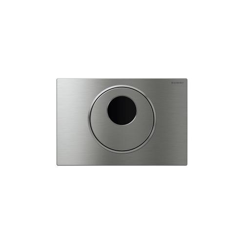 Sigma10 Flush plates for Sigma series in-wall toilet systems Brushed stainless steel with polished accent Finish 2x6 in-wall system; with manual override Compatibility