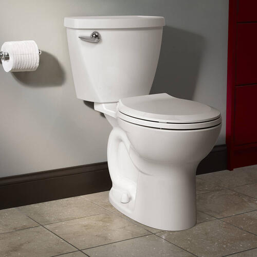 American Standard - Cadet 3 Tall Height 2-Piece 1.28 GPF Single Flush Round Toilet with Slow-Close Seat - Bone