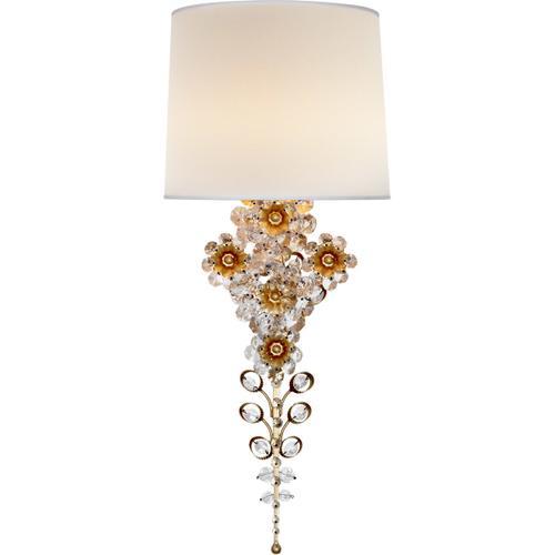 AERIN Claret 1 Light 10 inch Gild Tail Sconce Wall Light
