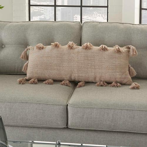 "Life Styles Dl005 Beige 13"" X 33"" Throw Pillow"