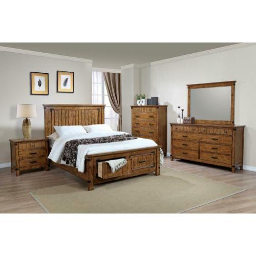 Gallery - Brenner Rustic Honey Full Storage Bed