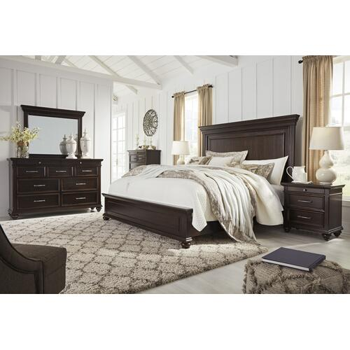 Brynhurst - Dark Brown 3 Piece Bed (King)