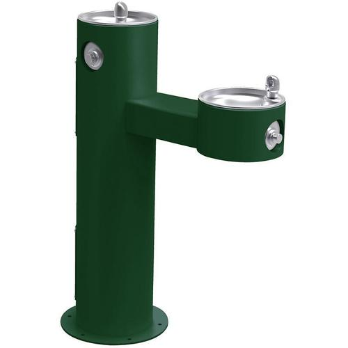 Elkay - Elkay Outdoor Fountain Bi-Level Pedestal Non-Filtered, Non-Refrigerated Freeze Resistant Evergreen