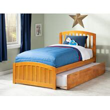 Richmond Twin Bed with Matching Foot Board with Urban Trundle Bed in Caramel Latte