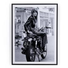 """30""""x40"""" Size Fran oise Hardy On Bike By Getty Images"""