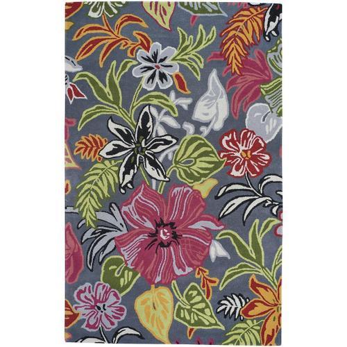Botanicum Grey - Rectangle - 5' x 8'