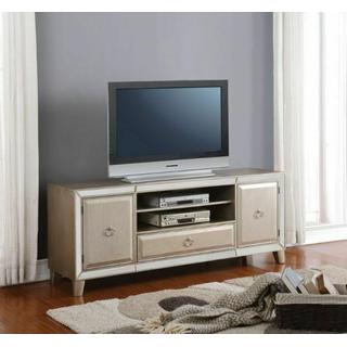 ACME Voeville TV Stand, Antique Gold - 91203