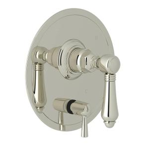 Pressure Balance Trim with Diverter - Polished Nickel with Metal Lever Handle