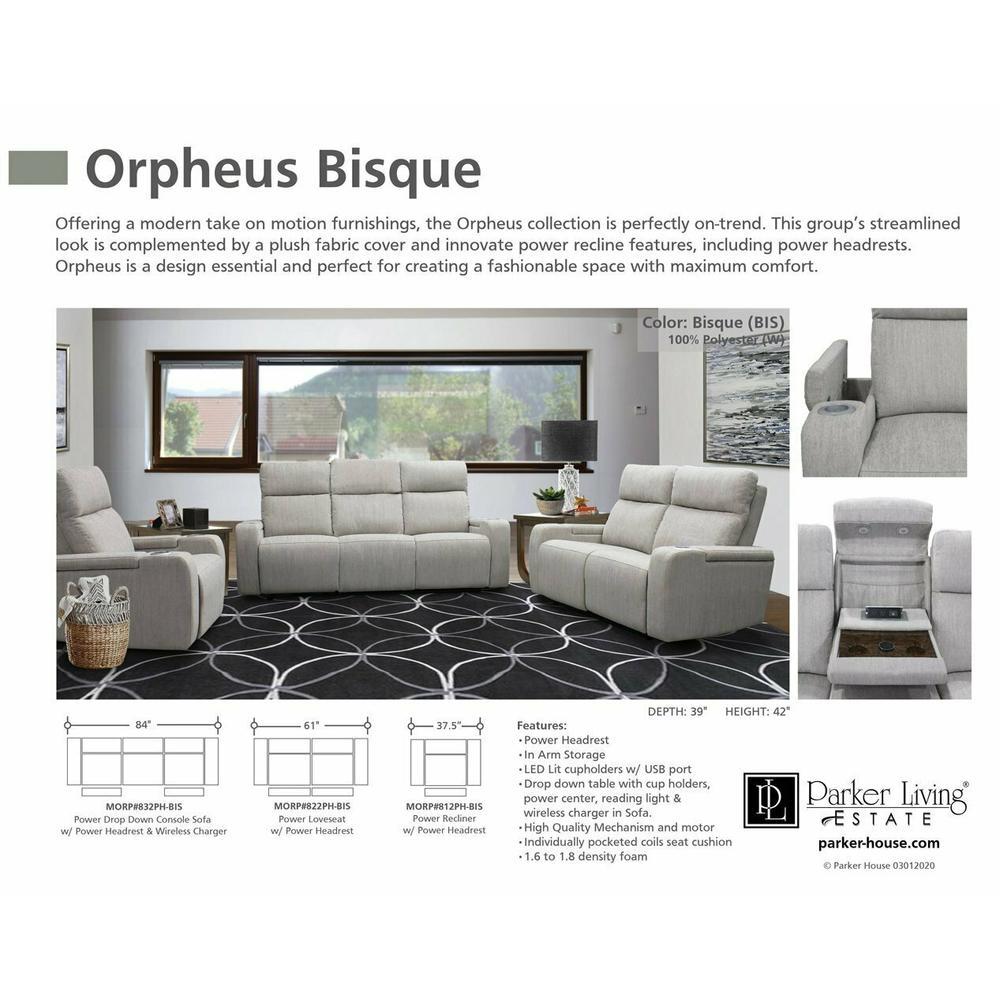 ORPHEUS - BISQUE Power Drop Down Console Sofa