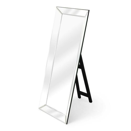 Butler Specialty Company - This dramatic mirror framed in mirror with a simple black easel stand is bound to add glamour to the boudoir or any other dressing space. Crafted from select wood solids and wood products, it features clear beveled edge mirrored glass. Smile when you get up close... your bound to like what you see!