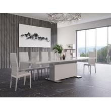 """View Product - Modrest Bono """"T"""" - Modern White Dining Table"""