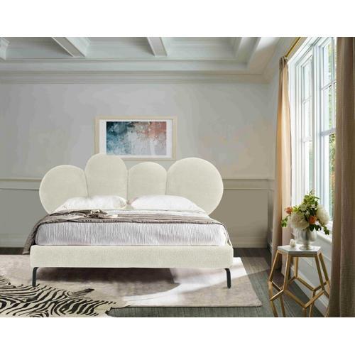 VIG Furniture - Modrest Destiny - Contemporary White Sherpa Bubble Bed