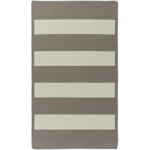 Cabana Stripes Taupe Braided Rugs