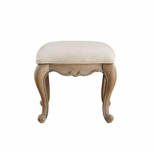 ACME Teagan Vanity Stool, Oak - 22101