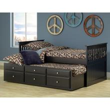 See Details - Logan Twin Captain's Bed - Black